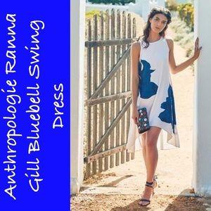 Anthropologie Ranna Gill Bluebell Swing Dress